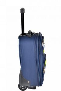 Klept Troler textil 2 roti FLY-42 Albastru cu verde