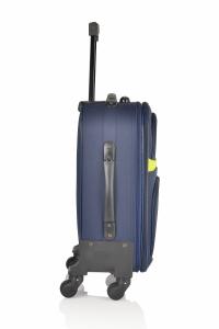 Klept Troler textil 4 roti Smart-55 Albastru cu verde