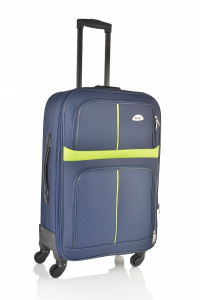 Klept Troler textil 4 roti Smart-65 Albastru cu verde