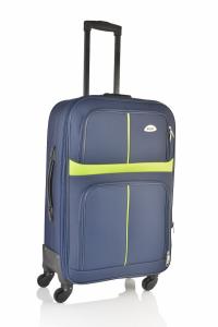 Klept Troler textil 4 roti Smart-75 Albastru cu verde
