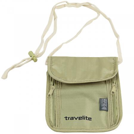 Geanta-portofel Travelite cu protectie RFID - Bej