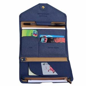 Portofel multifunctional/Organizator Documente Albastru