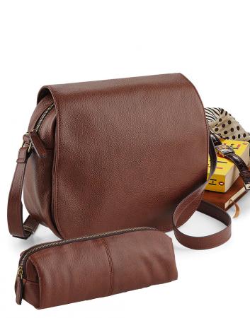 Set geanta de dama si necessaire pentru calatorie - Maro