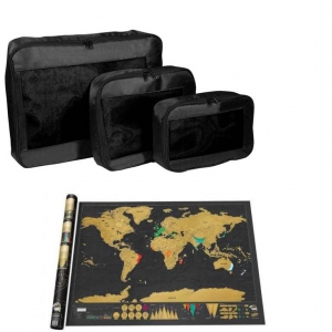 Set Traveller - Packing cubes si Harta razuibila