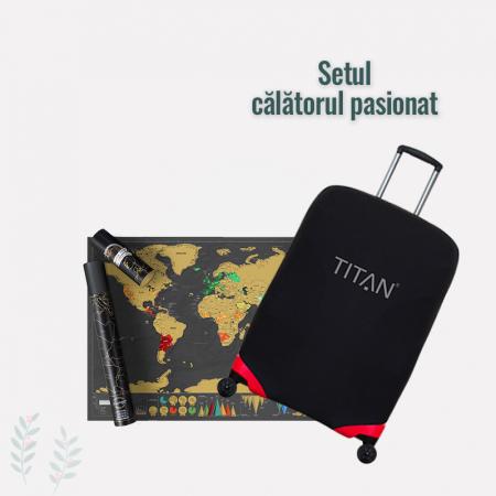 "Set travel ""Calatorul Pasionat"" - Negru"