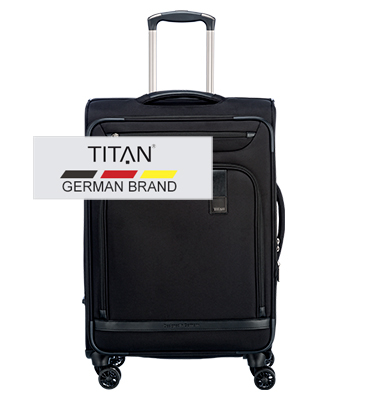SET Trolere Titan CEO 4 roti S,M - Negru
