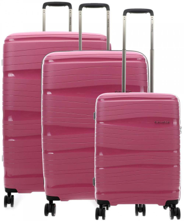 SET Trolere Travelite MOTION 4 roti S,M,L - Roz
