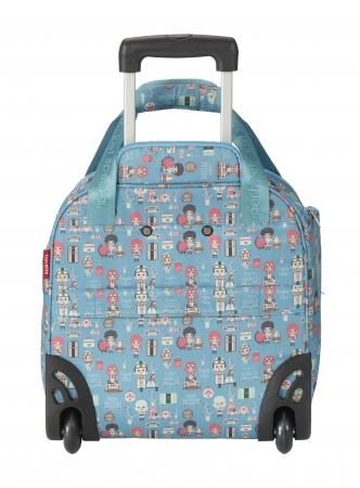 Troler LIL'LEDY 2 roti duble -  40 cm- TEXTIL – turquoise – travelite