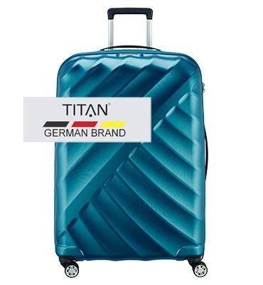 Troler TITAN SHOOTING STAR 4 roti 77 cm Albastru Petrol - resigilat