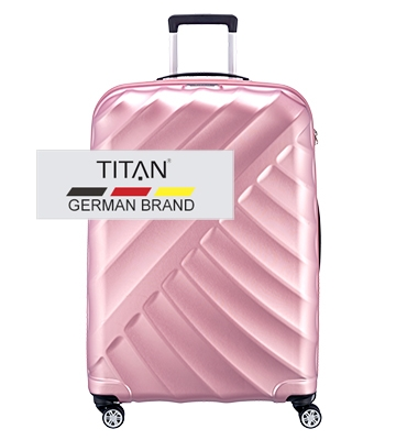 Troler TITAN SHOOTING STAR 4 roti 77 cm Rose