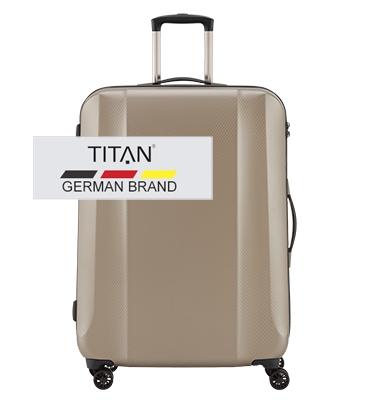Troler TITAN XENON DELUXE 4 roti 74 cm Bej Champagne