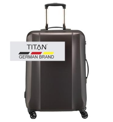 Troler TITAN XENON DELUXE 4 roti 64 cm Maro