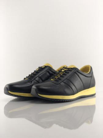 Pantofi sport din piele BLACK N YELLOW