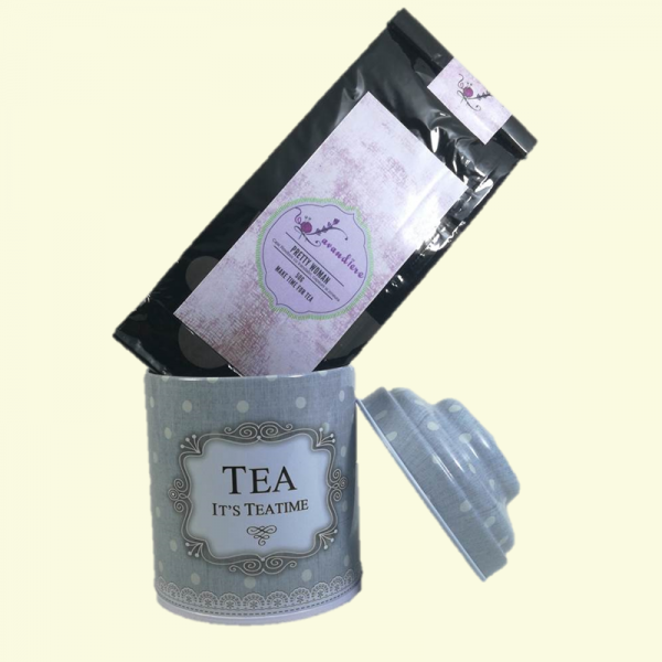 "Set Ceai Rooibos Pretty Woman, 50 g + Cutie "" Tea "", Metalica, 40 g"