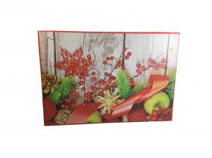 Cutie Cadouri Craciun cu model, Multicolor, 21 x 8 x 14 cm