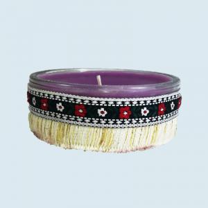 Lumanare decorativa parfumata in borcan, cu aroma de Lavanda, 8x3.5x9cm, mov