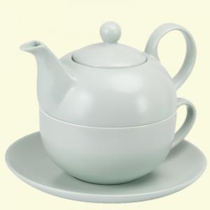 Set tip ceainic cu ceasca, portelan, 400 ml
