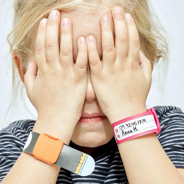 Brățară refolosibilă de identificare pentru copii Infoband - Cavalerească