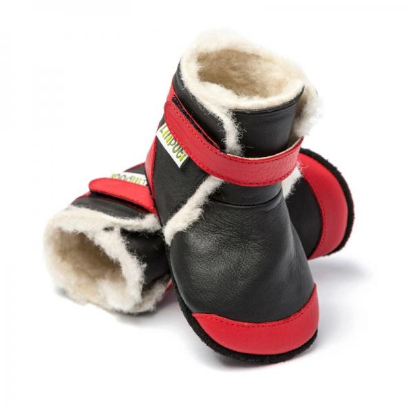 Cizme cu talpă moale Liliputi® - Himalaya Black