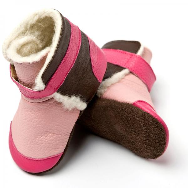 Cizme cu talpă moale Liliputi® - Yukon Pink