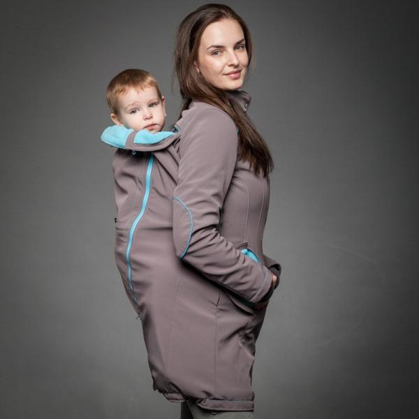 Geacă pentru mămici 4in1 Liliputi® - Grey-turquoise