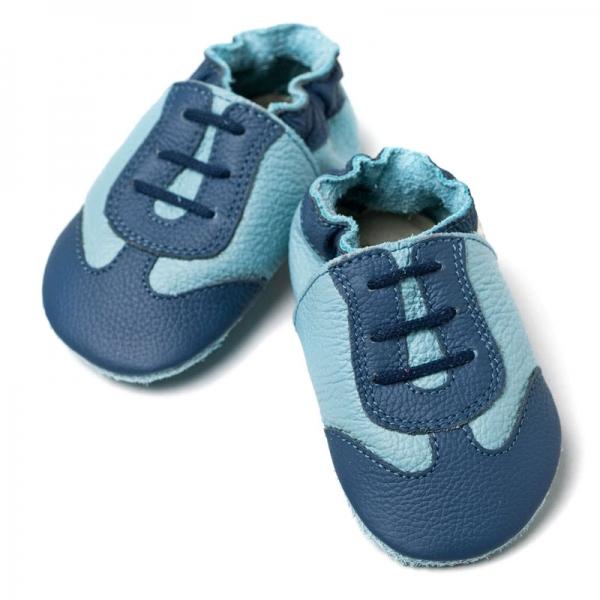 Pantofi cu talpă moale Liliputi® - Blue Sport