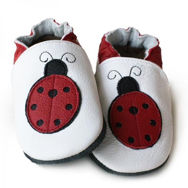 Pantofi cu talpă moale Liliputi® - Miss Ladybug