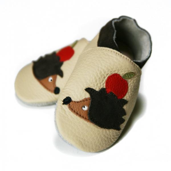 Pantofi cu talpă moale Liliputi® - Hedgehog Friends