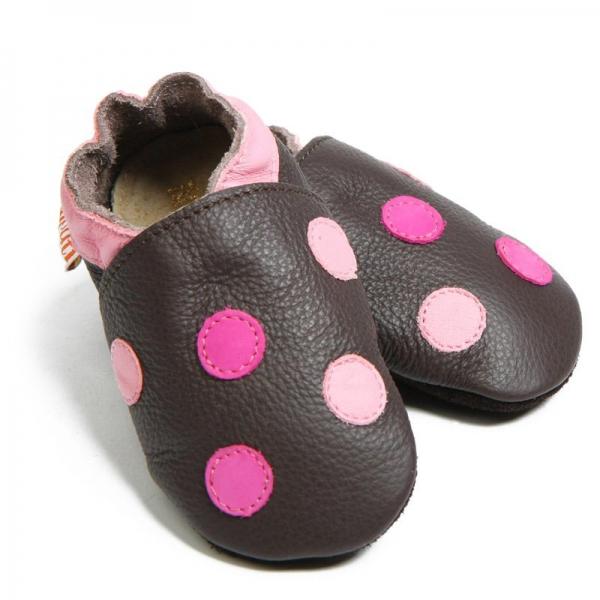 Pantofi cu talpă moale Liliputi® - Polka Dots