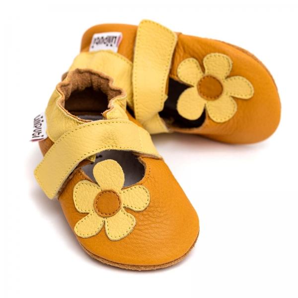 Sandale cu talpă moale Liliputi® - Sunflower