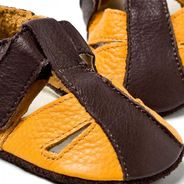 Sandale cu talpă moale Liliputi® - Atacama Yellow