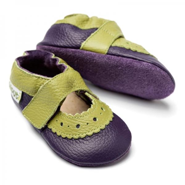 Sandale cu talpă moale Liliputi® - Sahara Purple