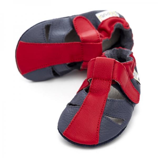Sandale cu talpă moale Liliputi® - Flame