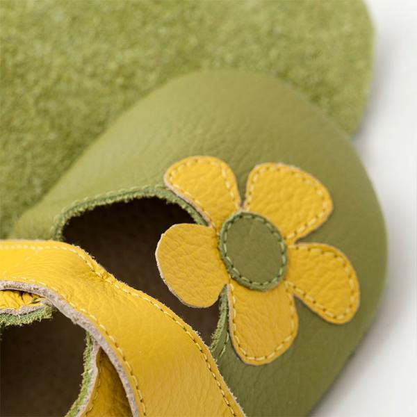 Sandale cu talpă moale Liliputi® - Kalahari Green