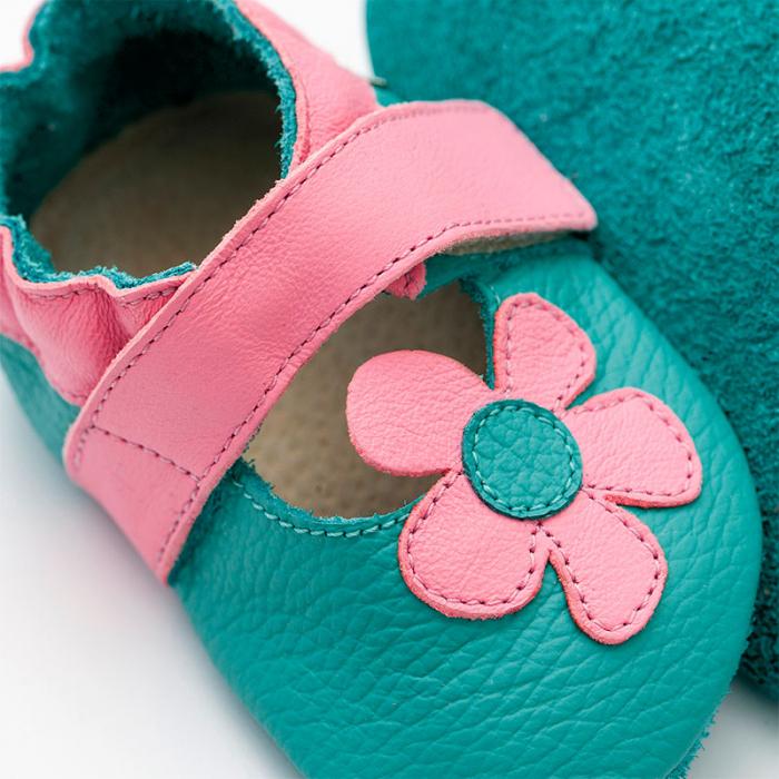 Sandale cu talpă moale Liliputi® - Kalahari Turquoise