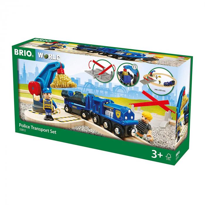 Set transport poliție, Brio 33812