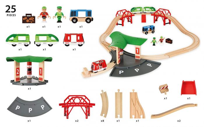 Set de transport de persoane, cu stație de autobuz, Brio 33627