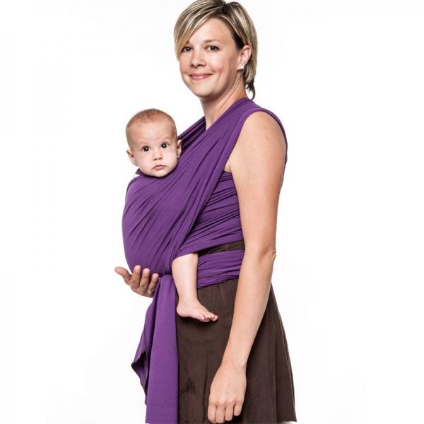 Wrap elastic Liliputi® Classic line - Purple Lotus