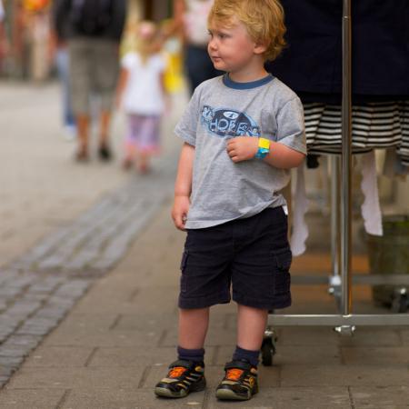 Brățară refolosibilă de identificare pentru copii Infoband - Cu coroană roz