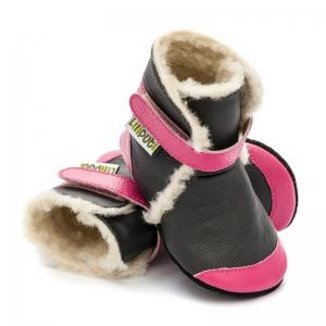 Cizme cu talpă moale Liliputi® - Eskimo Black