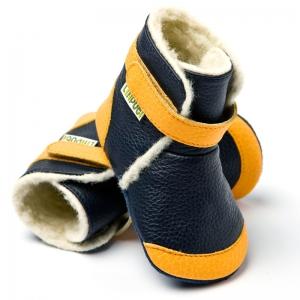 Cizme cu talpă moale Liliputi® - Himalaya Navy