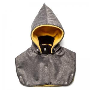 Glugă și fular de încălzire a gâtului pentru bebeluși Liliputi - Grey-yellow