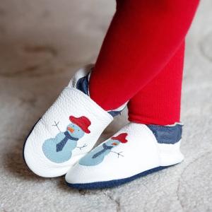 Pantofi cu talpă moale Liliputi® - Funky Snowman