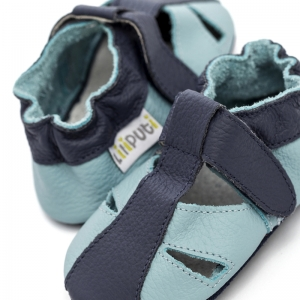 Sandale cu talpă moale Liliputi® - Sky