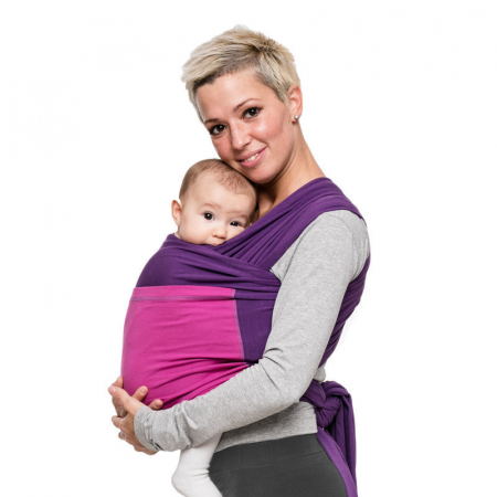 Wrap elastic Liliputi® Duo line - Purple-Fuchsia