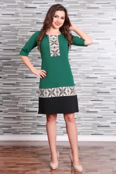 Rochie Stilizata cu Motive Traditionale Camila