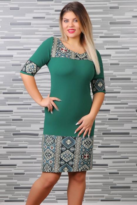Rochie Stilizata cu Motive Traditionale Aylin