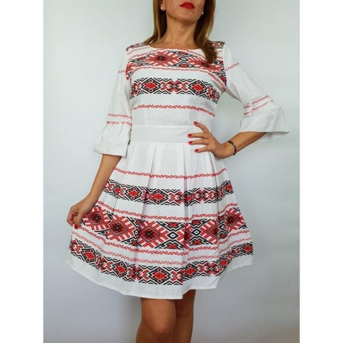 Rochie stilizata cu motive traditionale Nicoleta 3