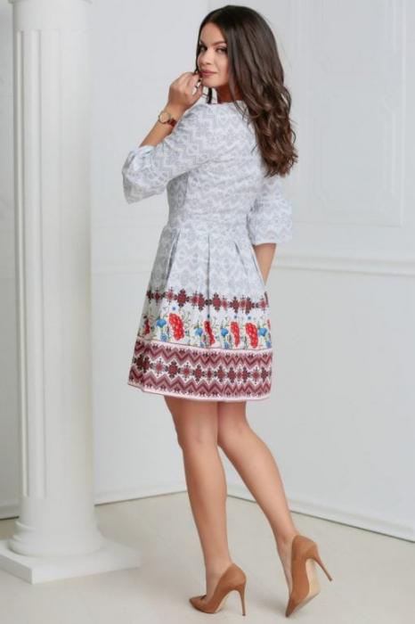 Rochie stilizata cu motive traditionale Nicoleta 2