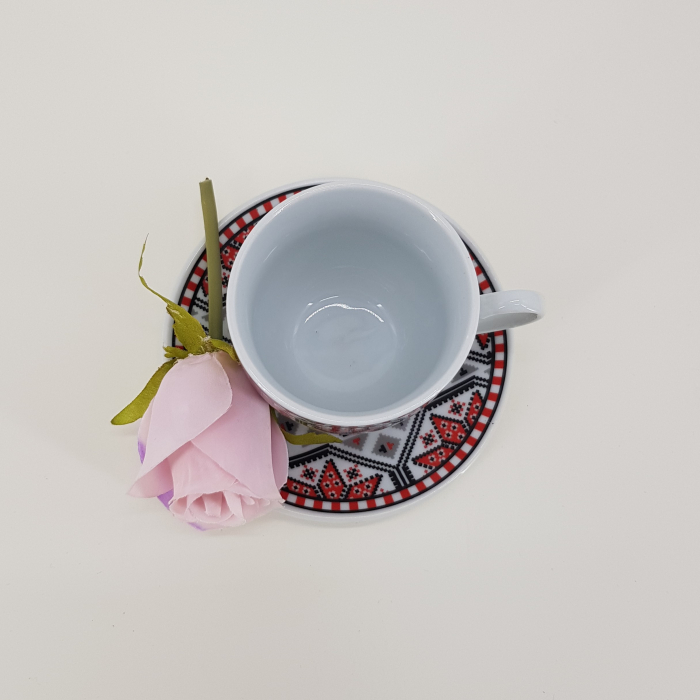 Set cafea cu motive traditionale